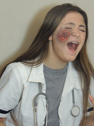 Maggot Infested Skin Trypophobia Doctor Costume 5 Steps With