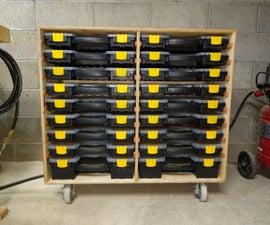 Organizer Bin Storage Unit