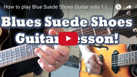 Picture of How to Play the Blue Suede Shoes Guitar Solo
