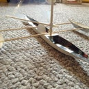 Cardboard Model Sailing Canoe