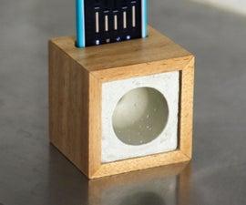 Concrete Passive Speaker Cube