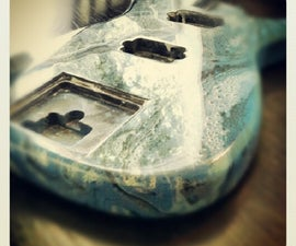 Swirl and Water Droplet Painting a Guitar Body