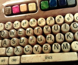 Wooden Computer Keyboard by Steve M. Potter