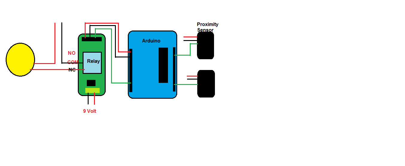 Picture of Automatic Switching of Light Using IR Proximity Sensor
