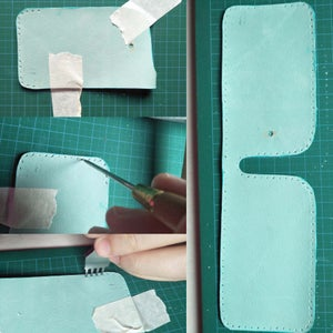Aligning the Stitch Marks for the Zipper Pocket
