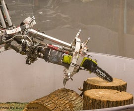 Sculpture Robot (Part 5 of 9): Making a Robotic Arm with Chainsaw & Sawzall Axe
