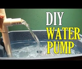 How to Make a Water PUMP Using PVC Pipe DIY