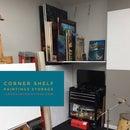 Corner Shelf, Paintings Storage - LookAtMyPaintings.com