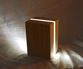 Modern Bedside Lamp from Scraps