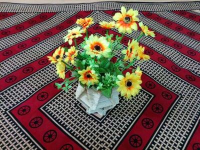 POPSICLE STICKS FLOWER VASE