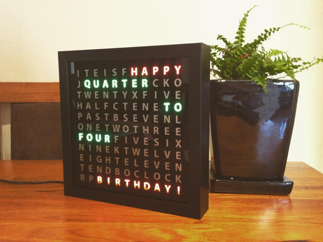 Picture of Tinker's Word Clock - REVISITED! NOW 110% More AWESOME (Clean and Easy to Make)