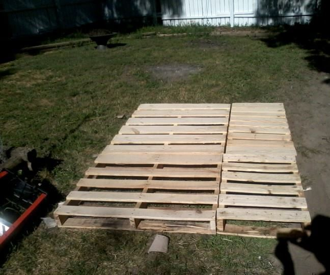 Pallet Bed Frame Queen Platform
