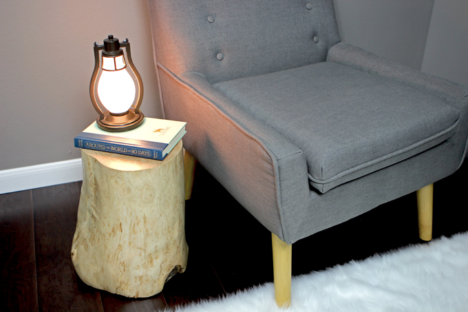 Picture of No Cost Log Side Table - Upcycle