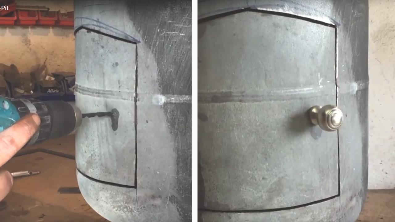 Picture of Fitting Door Knob.