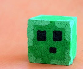 "Minecraft Slime Squishy Stress ""Ball"""
