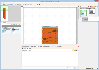 In Visuino: Add and Connect DHT11 Component