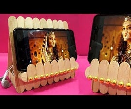 Easy and Beautiful Mobile Stand Made From Ice Cream Sticks