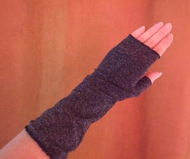 Easy to Sew Fingerless Gloves