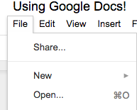 Picture of Opening a Pre-Written Document