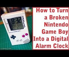 Nintendo Game Boy Made Into a Digital Clock