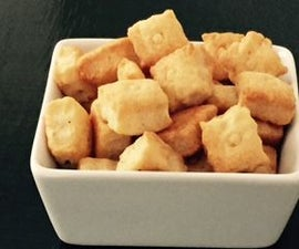 Completely crispy crunchy cheesy cheezlings