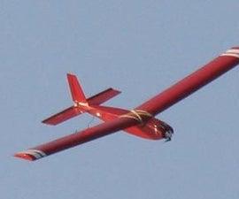 Balsa and Foam Board Composite R/C Glider