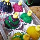 Ornament Cake balls, with DIY edible glitters!!!