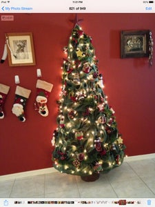 My Burlap Christmas Tree