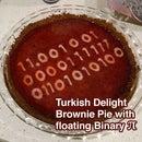 Turkish Delight Brownie Pie w floating Binary Pi