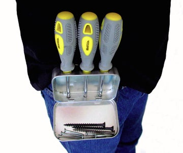 Turn a Mint Tin Into a Belt Holster for Screwdrivers