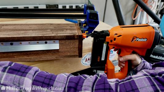 Glue and Brad Nail Shelf Parts Together