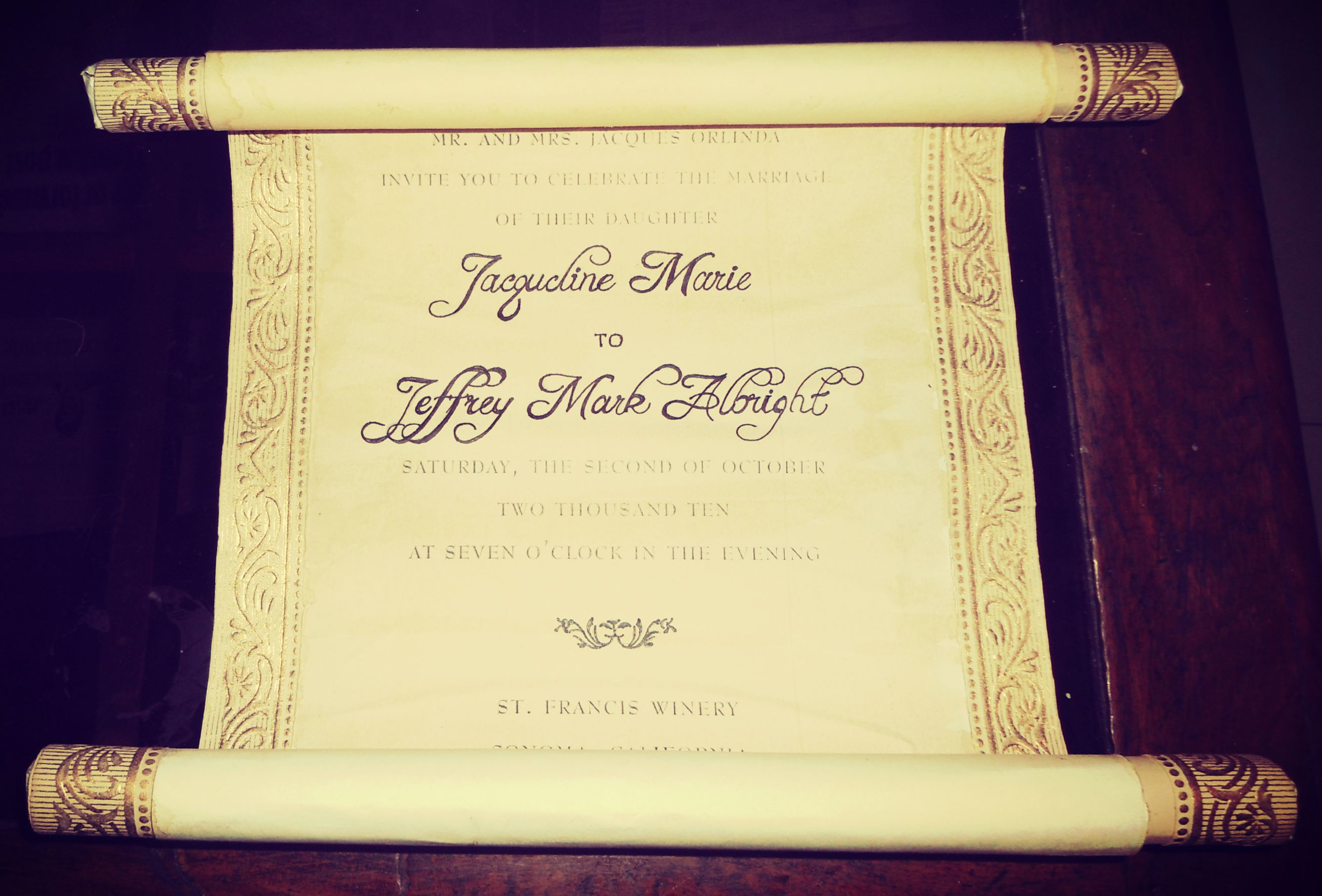 Picture of Write or Print Down the Invitation Details.