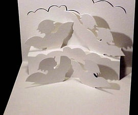 How to make a Kirigami Pop Up Angels In Clouds Card (Paper Craft)!