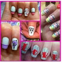 rainbow nailsart