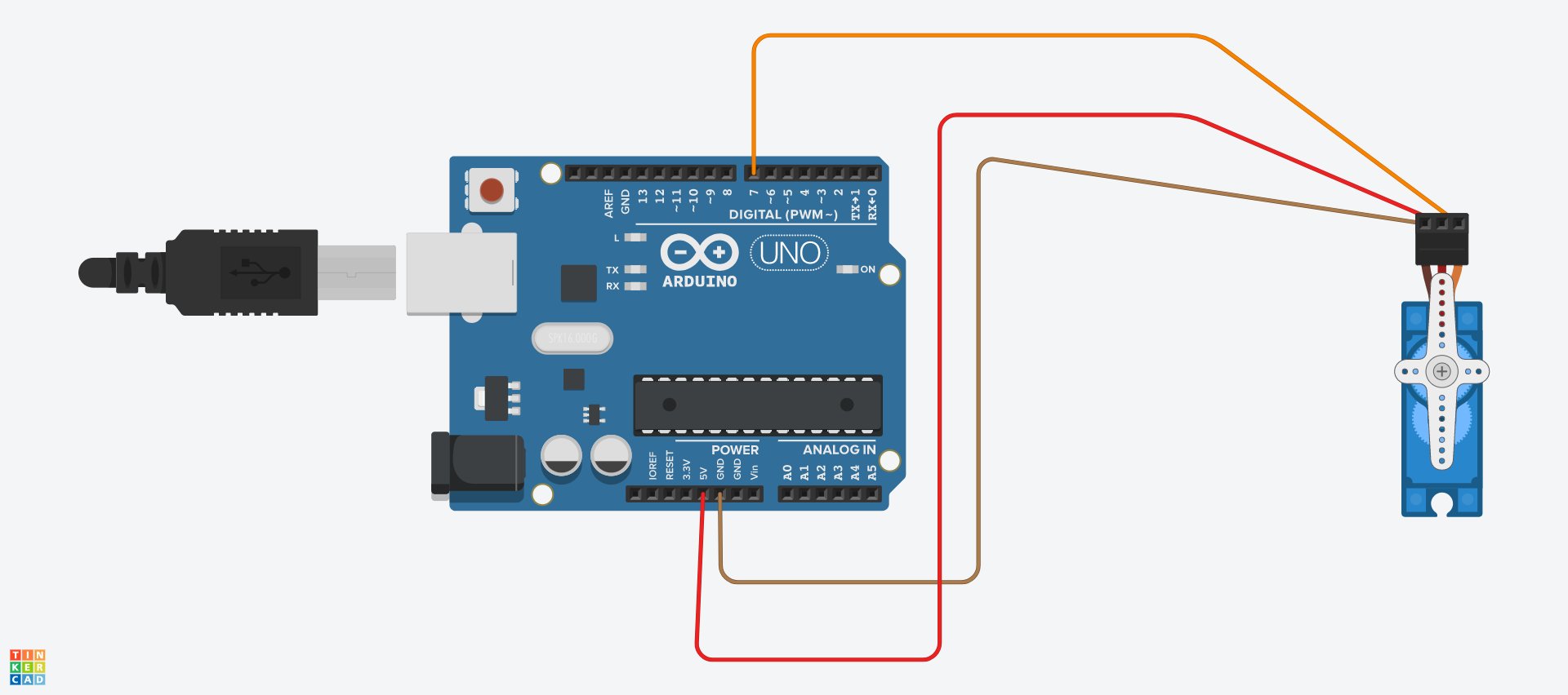 Picture of Connecting the Arduino to the Servo