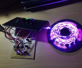 RGB LED Strip Dimmer With 555 Timer