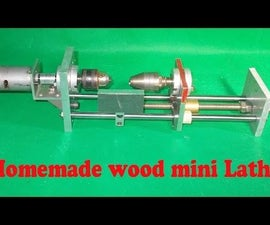 Homemade Wood Metal Mini Lathe Projects DIY Headstock Chuck Drill Spindle Tailstock