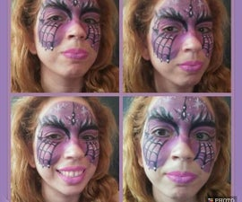Purple Spider Mask Face Paint