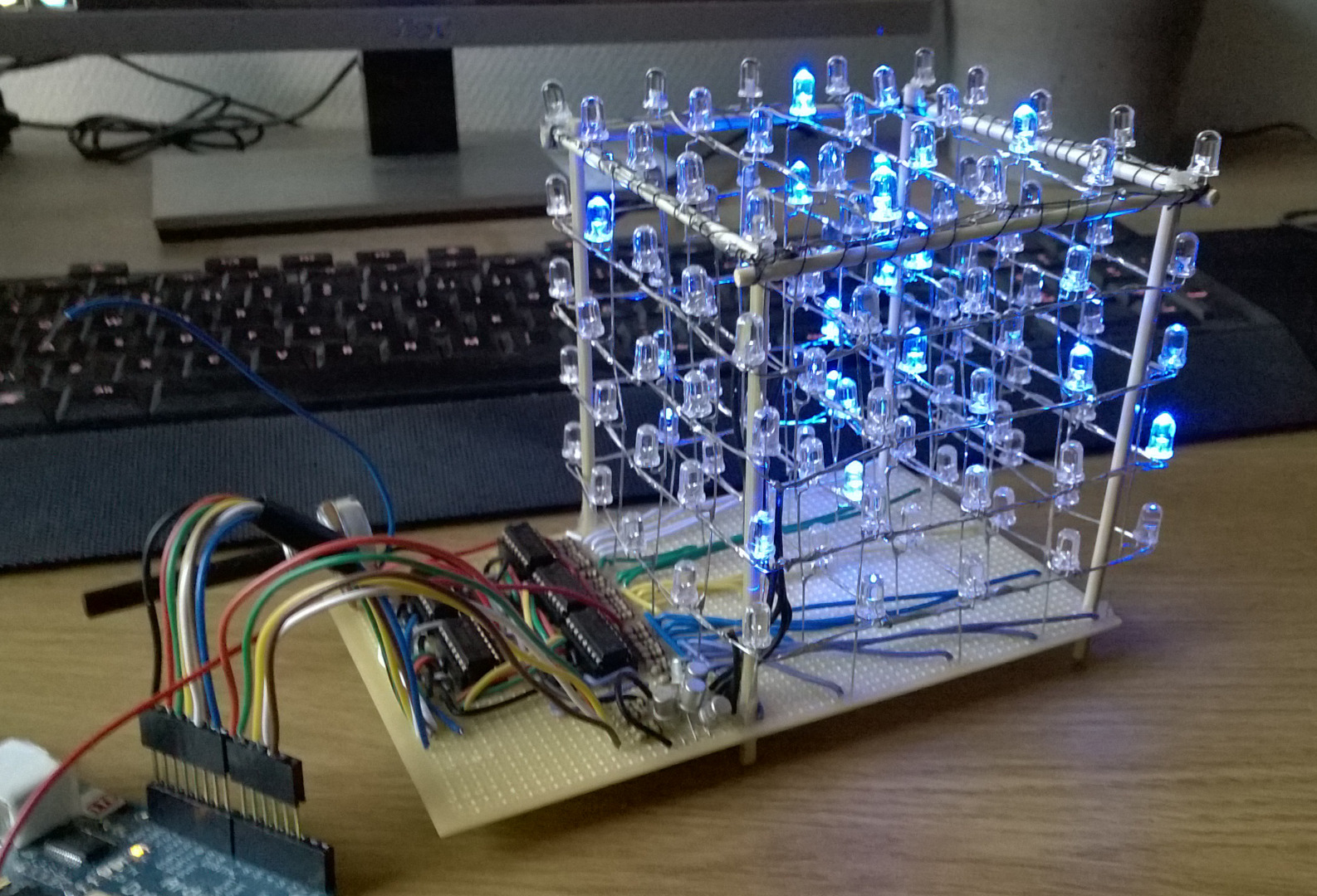 Picture of Led Cube 5x5x5 - a Small Student Project.
