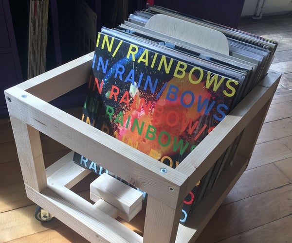 Awesome Wooden Record Crate