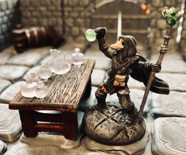 Kit-Bashed Plague Doctor Miniature Model