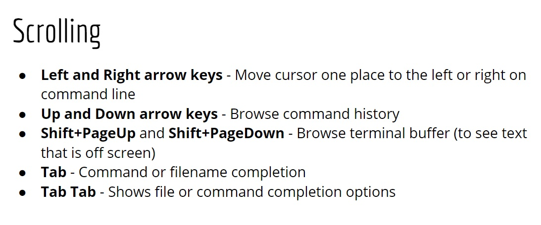 Picture of Special Key Combos!