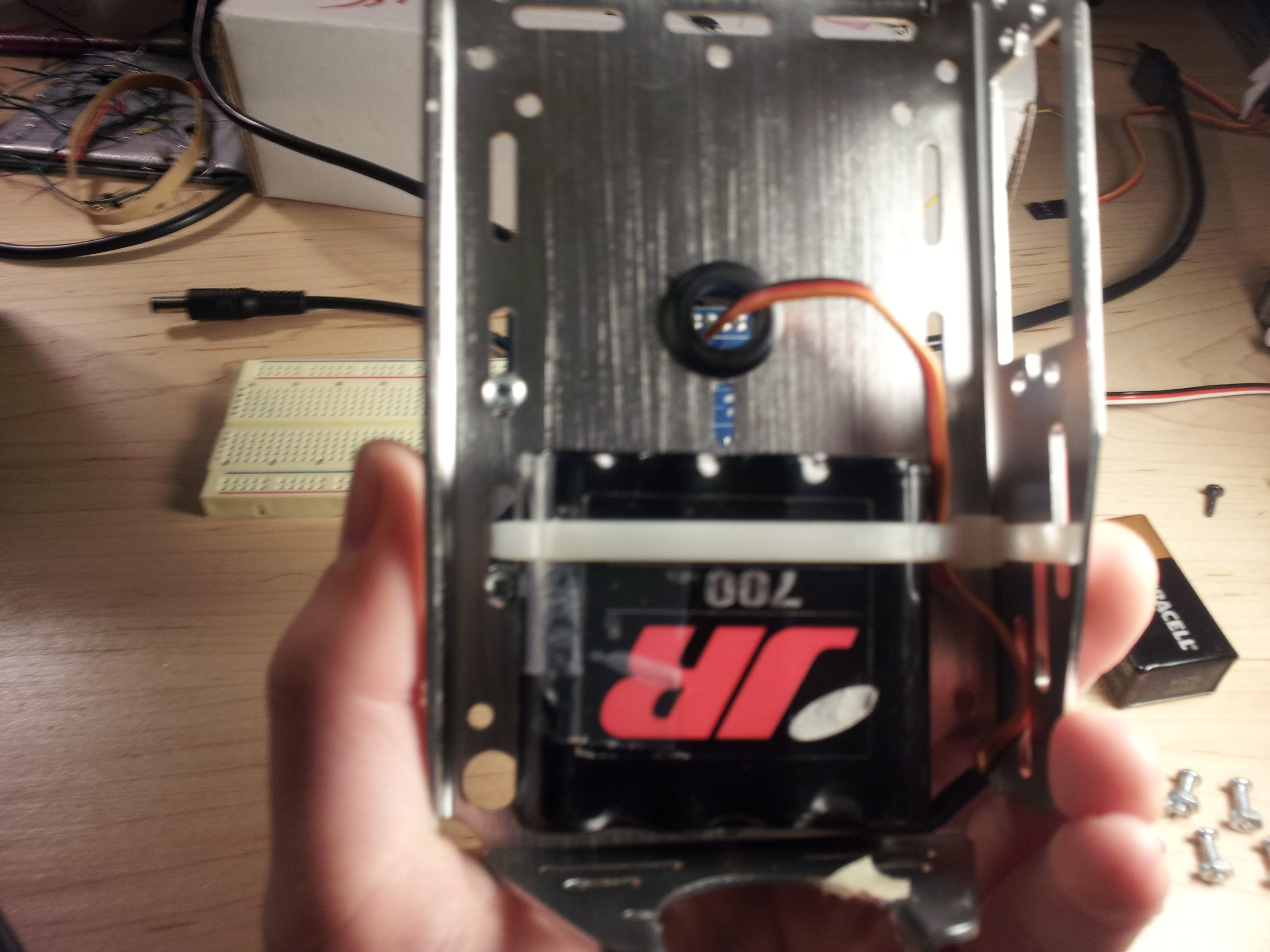 Picture of Attach the Motor Battery