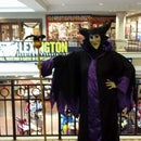 Maleficent costume dress, staff and mask