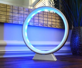 LED Ring Lamp (3D Printed + Wood Veneer + LED Strip)