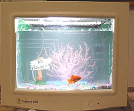 Turn Your Old CRT Computer Monitor Into A Fish Tank ! ! !