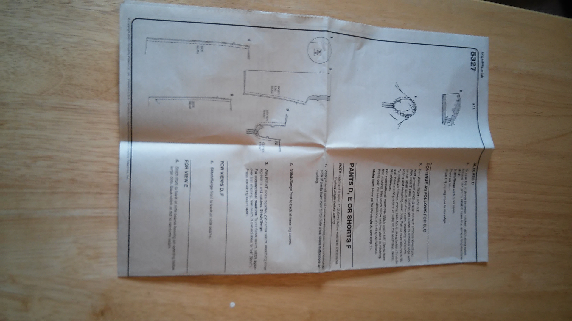 Picture of Instructions in Package
