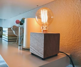 DIY Wood Block Lamp