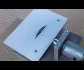 Homemade Mini Circular Table Home Built Jig Saw DIY Cutting PCB With Old Motor Hand Drill