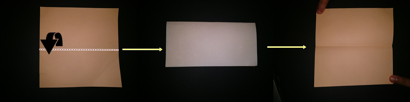 Picture of Fold Paper in Half.
